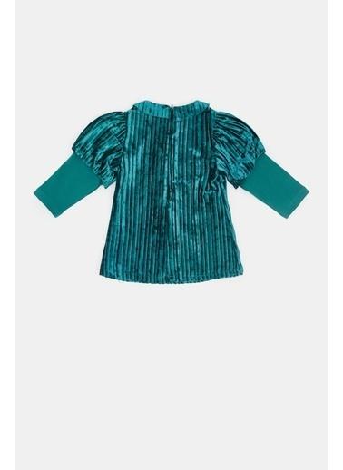 BG Baby Kız Bebek Yeşil Elbise 20Fw0Bg2906 Yeşil